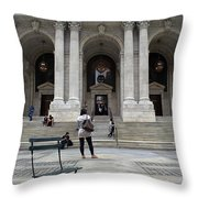 New York City Public Library Throw Pillow