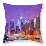 New York City - Skyline 0 Throw Pillow