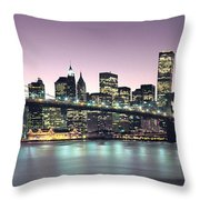 New York City Skyline Throw Pillow by Jon Neidert