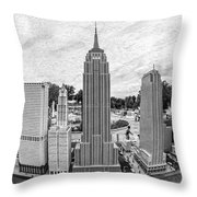 New York City Skyline - Lego Throw Pillow