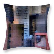 New York City Skyline No. 3 - City Blocks Series Throw Pillow