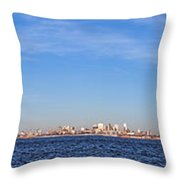 New York City Skyline Throw Pillow by Olivier Le Queinec