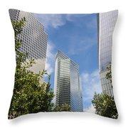 New York City Skyscrapers Throw Pillow