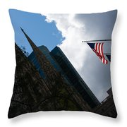 New York City Stars And Stripes Throw Pillow