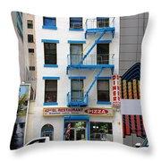 New York City Storefront 5 Throw Pillow