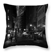 New York City Street - Night Throw Pillow by Vivienne Gucwa