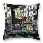 New York City Streets - Ritz Diner Throw Pillow