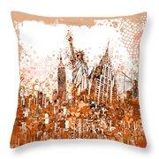 New York City Tribute 4 Throw Pillow