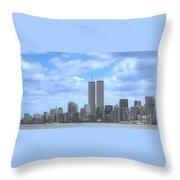 New York City Twin Towers Glory - 9/11 Throw Pillow