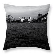 New York City - Two Bridges Throw Pillow