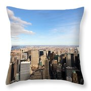 New York City View Throw Pillow