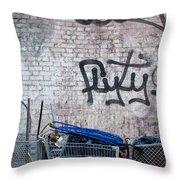 New York City Wall Throw Pillow