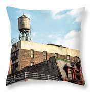 New York City Water Tower 2 Throw Pillow
