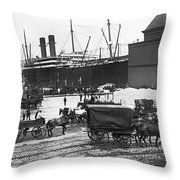 New York City Waterfront Throw Pillow