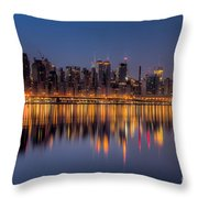 New York City West Side Morning Twilight I Throw Pillow