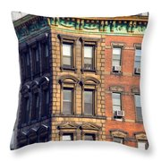 New York City - Windows - Old Charm Throw Pillow