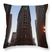 New York Corner Throw Pillow