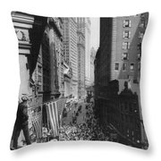 New York Curb Market, 1918 Throw Pillow