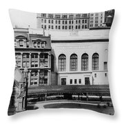 New York Curb Market, 1921 Throw Pillow