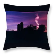 New York Farm Throw Pillow