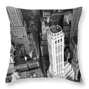 New York Financial District  Throw Pillow