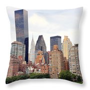 New York From Roosevelt Island Throw Pillow