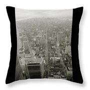 New York From The Trade Towers Throw Pillow