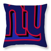 New York Giants Football Throw Pillow
