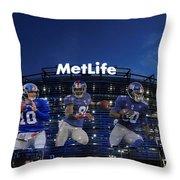 New York Giants Metlife Stadium Throw Pillow