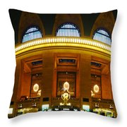 New York - Grand Central Station Throw Pillow