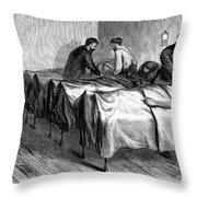 New York: Heatstroke, 1876 Throw Pillow