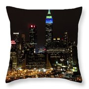 New York Honors Seattle Seahawks Throw Pillow