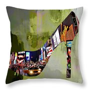 New York In A Shoe Throw Pillow