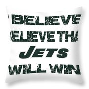 New York Jets I Believe Throw Pillow