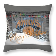 New York Knicks Throw Pillow