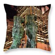 New York - Looking Toward The Avenue Throw Pillow