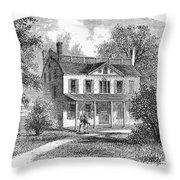 New York: Mansion, 1763 Throw Pillow