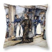 New York Milliner, 1889 Throw Pillow