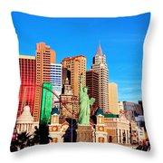 New York Nevada Throw Pillow