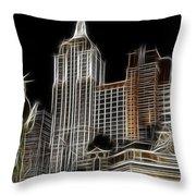 New York New York In Las Vegas Throw Pillow
