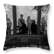 New York New York Shoppers Throw Pillow