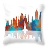 New York New York Skyline  Throw Pillow