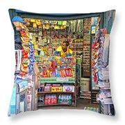New York Newsstand Throw Pillow