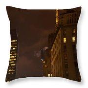New York Night Throw Pillow