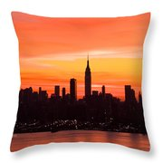 New York November Dawn Throw Pillow