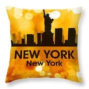 New York Ny 3 Throw Pillow