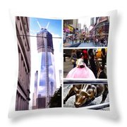 New York Nyc Collage Throw Pillow