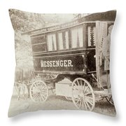 New York Omnibus, 1893 Throw Pillow
