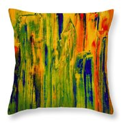 New York On A Hot June Morning Throw Pillow