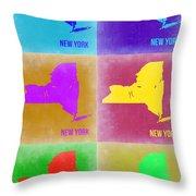 New York Pop Art  Map 3 Throw Pillow